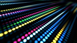 Colorful dots move background video material