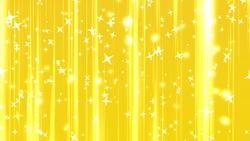 Increasing glitter background movie material yellow gold