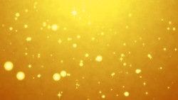 Yellow sparkling beautiful particle background video material (loop processed)