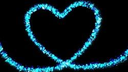 Blue heart glitter