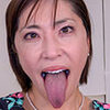 [Tongue fetiberofeci] Shimazaki Kasumi hentai long tongue and mouth to carefully observe the