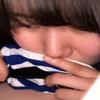 【パン染み】童顔巨乳の黒パンにこびりついたマンカスじみ