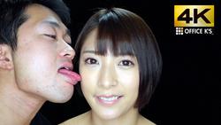 【4K animation】 Female face licking Abe Nomiku