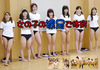 Physical education with girls barefoot ①