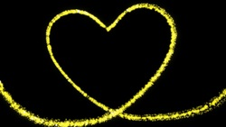 The sparkling yellow hearts