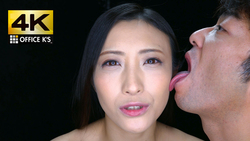 【4K animation】 woman face licking Kaname Flower