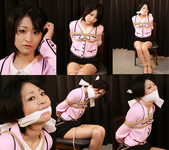 For the first time bondage gagged Chiaki Part1
