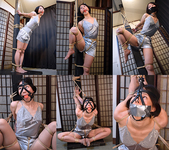 AD27-30 Nanako Bound & Gagged in Satin Lingerie FULL