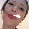 [Tongue fetish spit fetish] Nakamura, Saki erotic long tongue and saliva and mouth odor can enjoy course 1