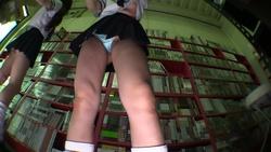 夏休みのバイトで、セクシー会社の棚卸しに、やって来たセーラー服黒ギャルちゃん!! M字開脚で頑張ります!!