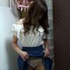 【パンツ染み】 恥じらい娘のバラのおパンツには、これでもかと言わんばかりの汚れ!