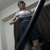 【ローアングル盗撮】美顔 ポニーテール娘の生脱ぎ盗撮!