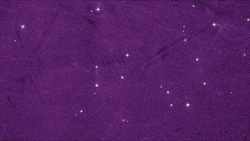 Lots of stars background videos can be looped in purple velvet fabric