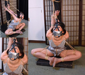 AD30 Nanako Bound & Gagged in Satin Lingerie Part4