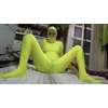 Electric power attack with whole body tights (yellow version)
