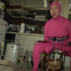 Attacking an electric machine with whole body tights (pink edition)