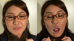 Kissing face geek glasses Yuu-Chan with glass, Kiss! Edition [digital photos]