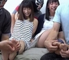 ① Hana Koi & Yurina Chan's bare feet tickle as it is