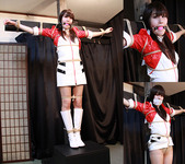 SF5 Cute Grid Girl Saya Captured and Bound to the Post Part1
